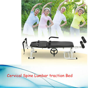 New Therapy Massage Table Lumbar Stretch Device Traction Bed For Cervical Spine