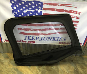 Jeep Wrangler Yj 87 95 Passenger Black Soft Top Half Door Upper Frame