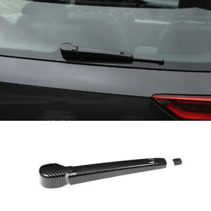 For Vw Golf Mk8 2020 2021 Abs Carbon Fiber Tail Rear Window Wipers Cover Trim 2x