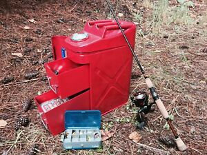 Rampage 86619 Trail Can Utility tool Box Red Steel For Universal Models