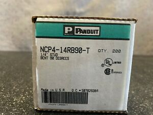 Panduit Ncp4 14b90 t Non insulated Ring Terminal 1 4 stud Bent 90 Degrees
