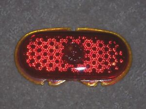1942 48 Ford Yankee Reflex 142 Red Glass Tail Light Lens