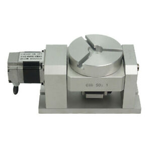 Cnc Rotary Axis Harmonic Gearbox Dividing Head 5th 4th Axis 50 1 Reduction Ratio