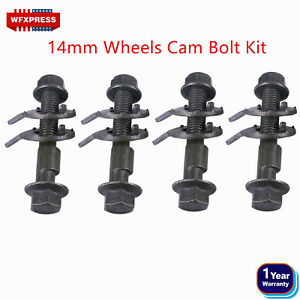 4 Bolts 14mm Front Left Right Camber Alignment Adjustable Cam Bolts Kit