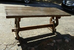 French Antique Farm Table Desk Dining Table Rustic