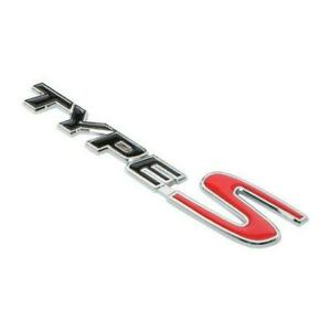 3d Type S Metal Badge Logo Car Body Emblem Sticker For Acura Tl Tlx Tsx Rsx Cl