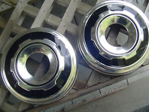 Vintage Ford 16 In Pickup Truck 4 4 Dog Dish Center Cap Hubcaps Wheel Covers 3 4