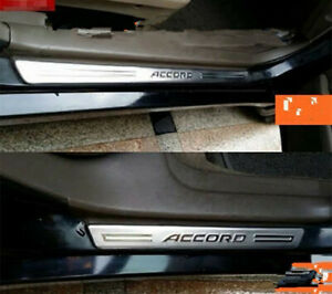 Stainless Steel Door Sill Plate Guard Protector Cover For Honda Accord 1998 2001