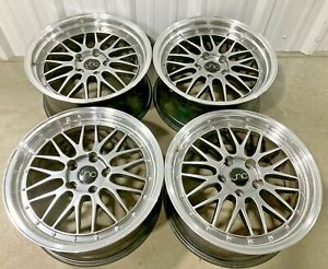 Set Of 4 Used Jnc Aftermarket Staggered Rims Wheel Set 18 X 8 5 18 X 9 Bmw