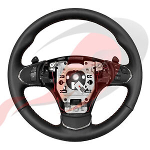 2005 2013 C6 Corvette Genuine Gm Automatic Leather Steering Wheel Red Stitching
