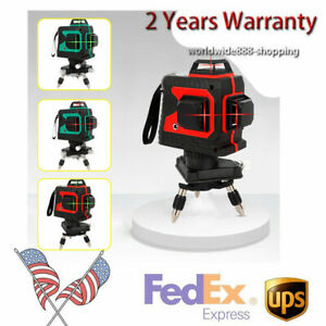 3d Laser Level Red Light Laser 12 Lines Self leveling Tool For Construction New