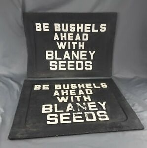 Vintage Rubber Truck Mud Flaps Blaney Seeds Advertising Semi Or Dually Truck Nos