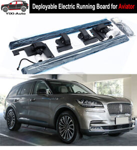 Deployable Electric Running Board Side Steps Fit For Lincoln Aviator 2020 2021