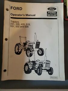Ford 231 335 420 515 531 532 535 Operator s Manual
