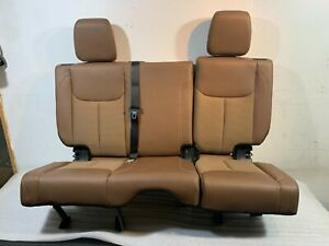 2016 Oem Jeep Wrangler Rear Seat brown Leather cloth 4 Door
