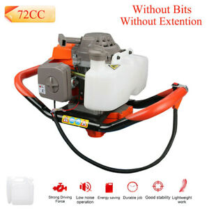 72cc Gas Powered Post Hole Digger 3hp Earth Auger Digging Engine