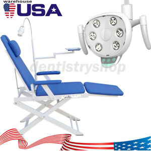 Ups Portable Dental Folding Chair Rechargeable Led Light induction Led Oral Lamp