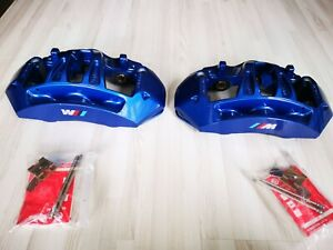 Bmw F10 M5 F12 F13 M6 Blue Brembo Front Caliper Pair Genuine Oem Brand New
