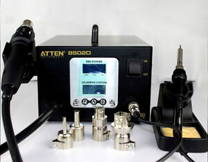 220v Dual Lcd 2 In 1 Atten At 8502d 900w Pro Hot Air Rework Iron Soldering