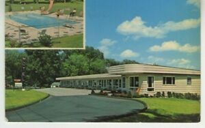 Vt Postcard T bird Motel Multiview Route 7 Shelburne Vermont C1960 Vtg C