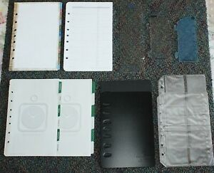 Classic Desk Planner Accessory 7 hole Tab Address Protectors Sleeves Lot 31