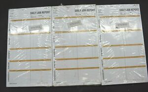 Lot Of 15 Daily Job Report Forms 212 Construction Bookkeeping Material Equipment