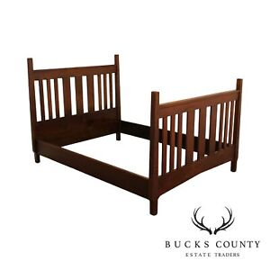 Mission Style Antique Oak Full Size Bed
