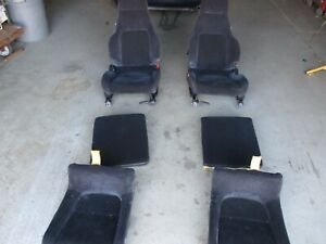 1993 Honda Prelude Cloth Seat Set front Rear Seats