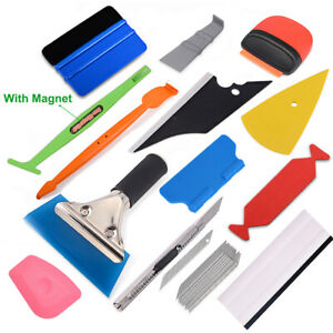 Pro Window Tint Tools Kit Vinyl Wrap Squeegee Car Application Film Install Usa