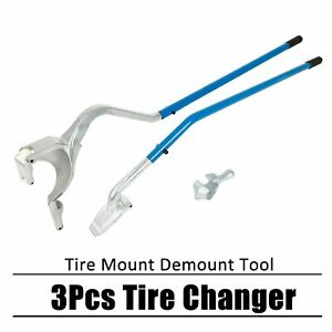 Manual Tire Changer Tire Mount Demount Tool Tubeless Truck 17 5 To 24 Inch 3 Pcs