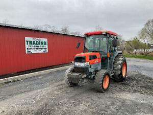 2006 Kubota L3430 4x4 Hydro 34hp Compact Tractor W Cab Front Weights 1500hrs