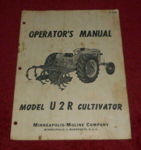 Minneapolis moline Model U2r Cultivator Operator s Manual