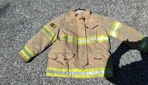 Firefighter Janesville Lion Apparel Turnout Commando Coat 44x32 2008 Used