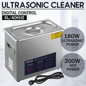 6l Liter Ultrasonic Cleaner Cleaning Equipment Industry Heated Jewelry Glasses