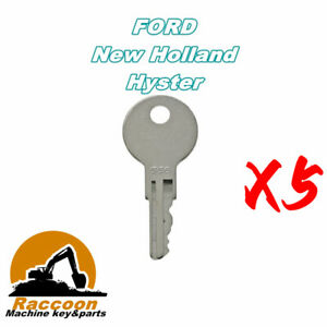 5pcs 556 Clark Ford New Holland Gradall Hyster Lull Yale Forklift Ignition Key