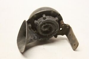 Original 1950 S Car Truck Low Note Horn Assembly W Mounting Bracket Oem Lo