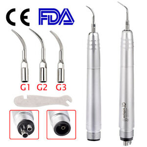 Usa Dental Ultrasonic Air Perio Scaler Handpiece Hygienist 2 4 holes With 3 Tips