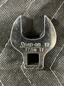 Snap on Tools 3 8 Drive 17mm Metric Open End Fcom17 Crowfoot Socket Wrench Usa