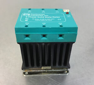 Continental Industries Rsaa 660 30 3d0 3 Phase Solid State Relay 4g
