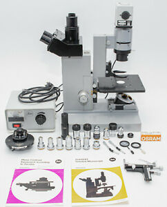 Leitz Diavert Epivert Inverted Microscope With Lots Of Extras Nice