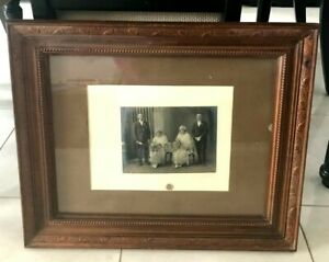 Vintage Antique Victorian Edwardian Picture Frame With Photo