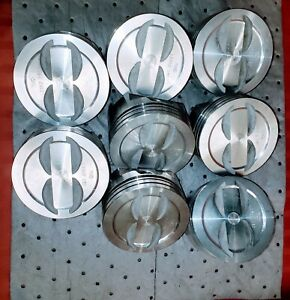 L2352f 030 Over Trw Forged Piston Set Of 8 Non Coated Skirts Chevy 400