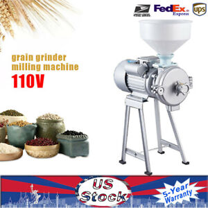 Electric Mill Dry Grinder Machine Corn Grain Rice Wheat Cereal Feed Grinder Tool