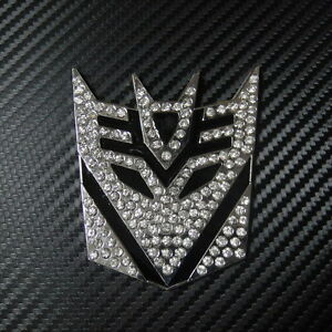 Car Emblem Decepticon Transformers Crystal Diamond Metal For Malibu Cobalt Badge