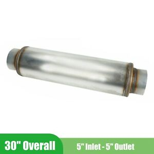 5 Inlet outlet 30 Overall Performance Resonator Diesel Muffler Stainless Steel
