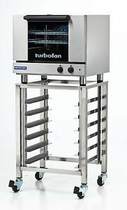 Moffat E22m3 Sk23 Electric Convection Oven 3 Half Size Pan W Mobile Stand