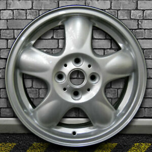 Full Face Bright Metallic Silver Oem Wheel For 2007 2012 Mini Cooper 15x5 5