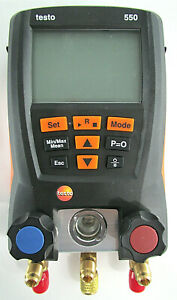 Testo 550 Digital Manifold Refrigeration Test Meter Only new
