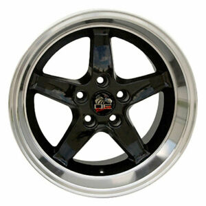 17 Black W mach d Lip Wheel 17x10 5 Fit For Mustang Cobra R Deep Dish Rim