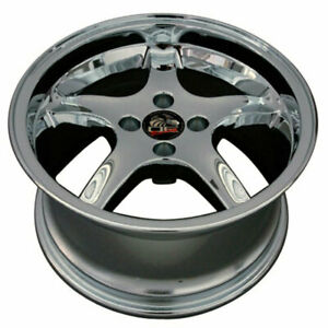 17 Chrome Wheel 20mm Offset Fit For Mustang Cobra R Deep Dish Style Rim
